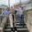 Birgit Kurz (vorne Mitte) mit den Verantwortlichen des Rathauses Marc Miltner, Thomas Schiller und Bürgermeister David Faulhaber (von links) sowie Tabea Dürr von der Seniorenbegegnungsstätte.